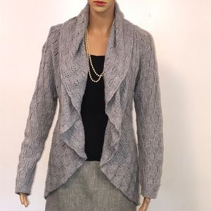 Silver/Grey Open design Sweater/Cardigan